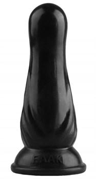 Черная анальная втулка с круглой головкой - 17,5 см.