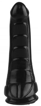 Черный анальный фаллоимитатор - 24 см.