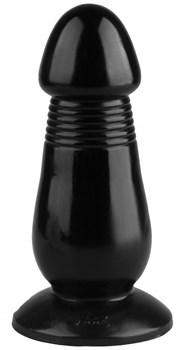 Черная реалистичная анальная втулка - 20 см.