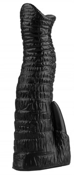 Черный анальный стимулятор в виде хобота - 20 см.