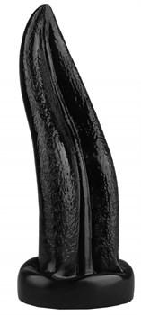 Черная изогнутая анальная втулка-язык - 21 см.