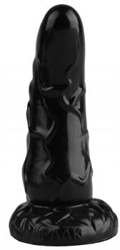 Черная анальная втулка с венками - 18 см.