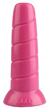 Розовая винтообразная анальная втулка - 19,5 см.