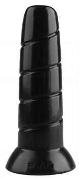 Черная винтообразная анальная втулка - 19,5 см.