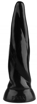 Черная коническая винтовая анальная втулка - 22,5 см.