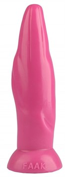 Розовая фигурная анальная втулка - 22,5 см.