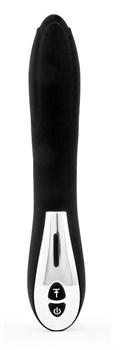 Черный гладкий вибромассажер с 12 режимами работы - 23 см.