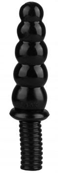 Черный фантазийный фаллоимитатор - 28 см.