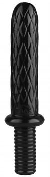 Черный анальный стимулятор с ромбиками - 31 см.