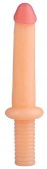 Телесный анальный реалистичный стимулятор - 31 см.
