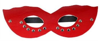 Красная маска CLASSIC с заклёпками