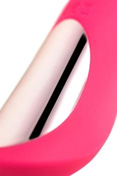 Розовый нереалистичный вибратор JOS Twig - 20,5 см.