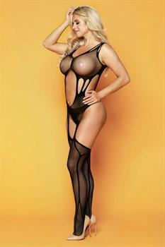 Пикантный комбинезон Britney с имитацией чулок
