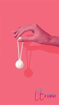 Белый вагинальный шарик LILY