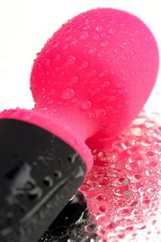 Черно-розовый вибростимулятор ASTER - 19,5 см.