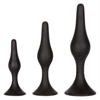 Набор черных силиконовых анальных пробок Silicone Anal Starter Kit