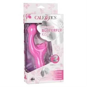 Розовый вибратор-кролик Rechargeable Butterfly Kiss