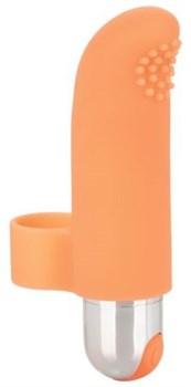 Оранжевая пулька-насадка на палец Finger Tickler - 8,25 см.