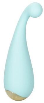 Голубой мини-вибромассажер #ThrillMe - 12 см.