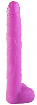 Розовый реалистичный фаллоимитатор - 39,5 см.