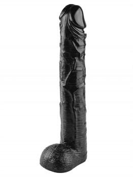Черный фаллоимитатор-гигант - 44,5 см.