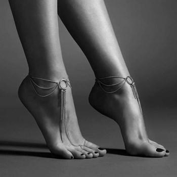 Серебристые браслеты на ноги Magnifique Feet Chain