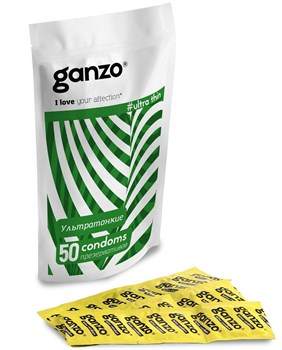 Ультратонкие презервативы Ganzo Ultra thin - 50 шт.