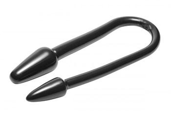 Черный двусторонний анальный стимулятор Ravens Tail 2X Dual Ended Anal Plug