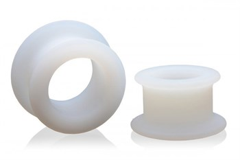 Набор из 2 белых анальных расширителей Stretch Master 2 Piece Training Silicone Ass Grommet set