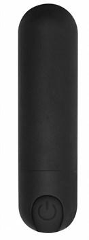 Черная перезаряжаемая вибропуля 7 Speed Rechargeable Bullet - 7,7 см.