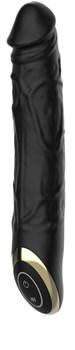 Черный вибратор-реалистик Terry - 21,6 см.