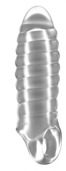 Прозрачная насадка на пенис закрытого типа N 36 Stretchy Thick Penis Extension - 15,2 см.