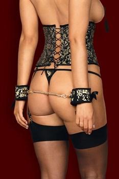 Роскошные наручники Shelle с атласными бантиками