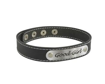 Чокер с белой строчкой Good Girl