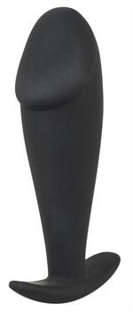 Черная фаллическая анальная втулка - 10 см.