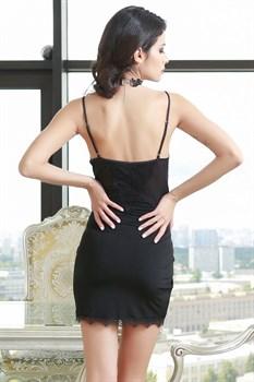 Коротенькая сорочка Glamour с кружевным лифом