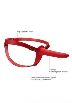 Красный страпон Adjustable на ремешках - 15,5 см.