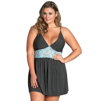 Ночная рубашка с кружевной вставкой Jersey   Lace Slipdress