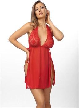 Эффектная полупрозрачная сорочка Belinda с разрезами