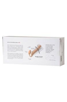 Телесный безремневой страпон Silicone Bendable Strap-On S