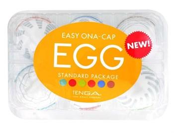 Набор из 6 мастурбаторов Tenga EGG Easy Beat с различным рельефом
