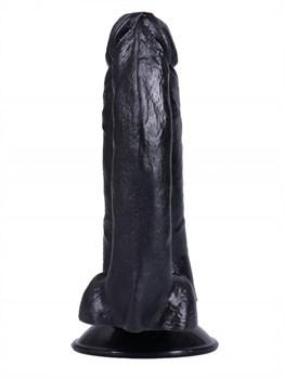 Черный сдвоенный фаллоимитатор №8 - 13,5 см.