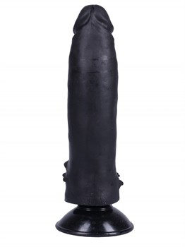Черный фаллоимитатор-реалистик на присоске №10 - 17 см.