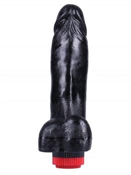 Черный вибратор-реалистик №4 - 17 см.