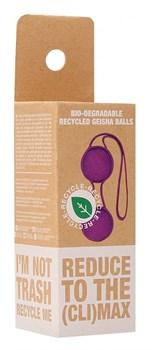 Фиолетовые вагинальные шарики Geisha со шнурком