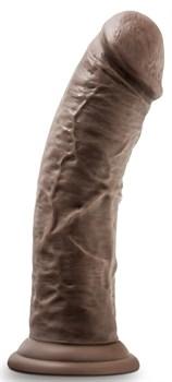 Коричневый фаллоимитатор 8 Inch Cock With Suction Cup - 20,3 см.