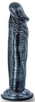 Черный фаллоимитатор без мошонки с присоской Ebony 6 Inch Dildo - 15 см.