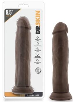 Коричневый фаллоимитатор 9.5 Inch Cock - 22 см.