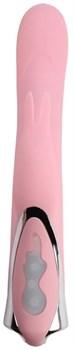 Нежно-розовый вибратор-кролик Rotating Missile Bunny - 24 см.