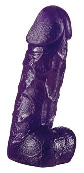 Фиолетовый фаллоимитатор Big Dong - 19 см.